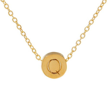 Letterology Goldtone Initial Necklace