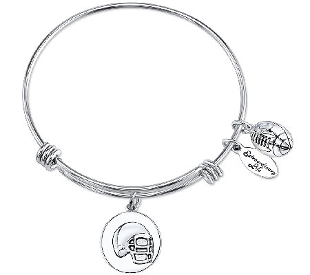Extraordinary Life Sterling Football AdjustableBangle