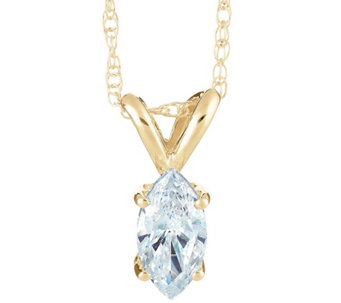 Marquise Diamond Pendant, 14K Yellow Gold 1/4 cttw,by Affinity - J345031