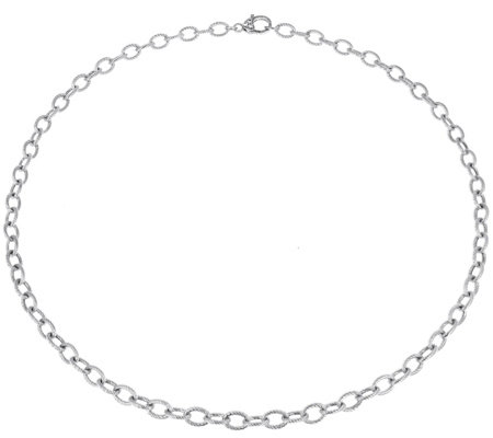 "Judith Ripka Verona Sterling Oval Link 36"" Necklace 28.5g"