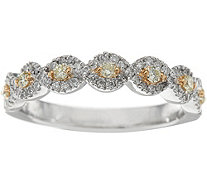 Yellow and White Diamond Band Ring, 14K, 1/3 cttw, by Affinity - J348131