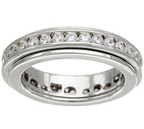 Diamonique Spinner Band Ring, Sterling - J349731