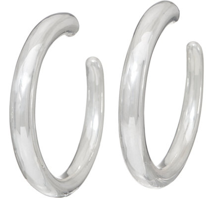 Simon Sebbag Sterling Silver Electroform Smooth Hoop Earrings