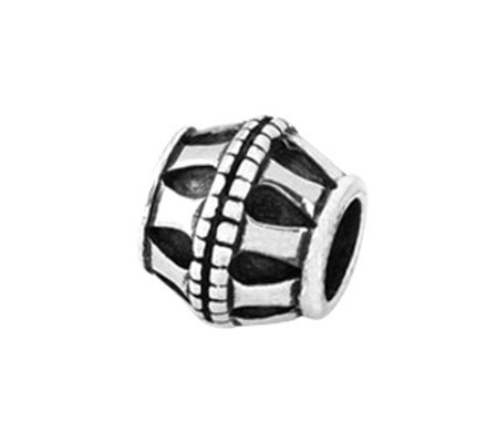 Prerogatives Sterling Bar Barrel Bead