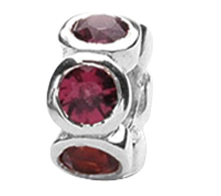 Prerogatives Sterling Red Cubic Zirconia Bead