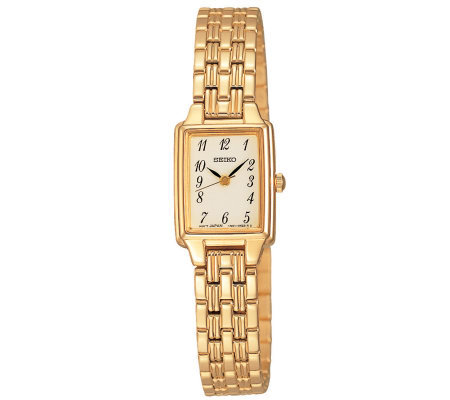 Seiko Ladies Goldtone Dress Watch w/ ChampagneDial