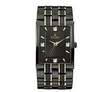 Bulova Men's Diamond Dial Watch - J112932