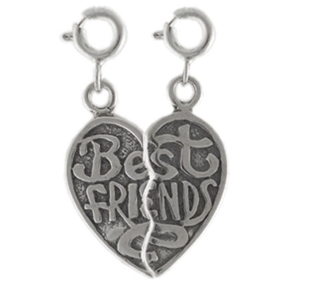 Sterling Best Friends Charm Set