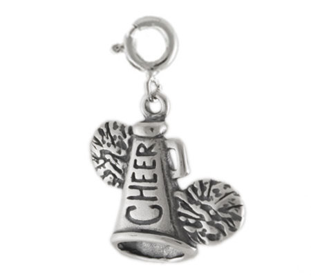 Sterling Cheer Charm