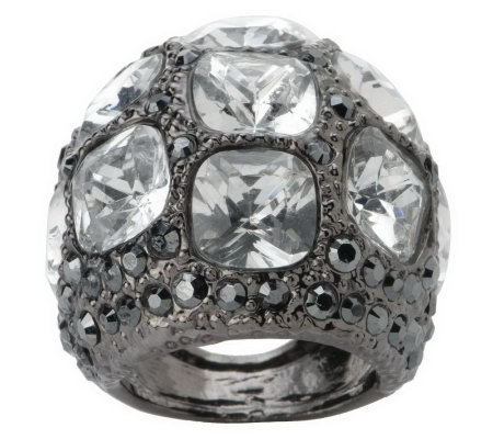 Kenneth Jay Lane's Manhattanite Pave' Ring