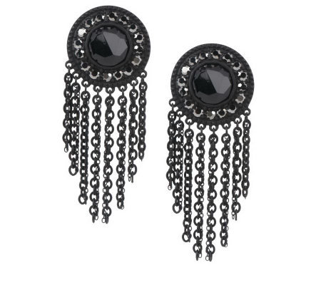 Faceted Crystal Fringe Earrings