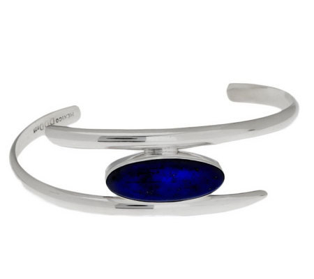 Dominique Dinouart Sterling Average Gemstone Cuff