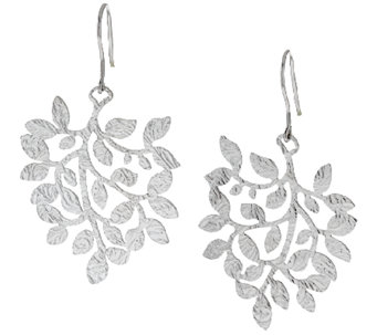 """As Is"" VicenzaSilver Sterling Cascading Leaf Earrings - J294632"