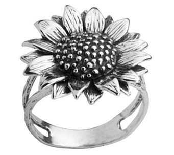 Or Paz Sterling Sunflower Ring - J308432
