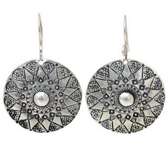 "Novica Artisan Crafted Sterling ""Floral Sheild""Earrings - J310032"