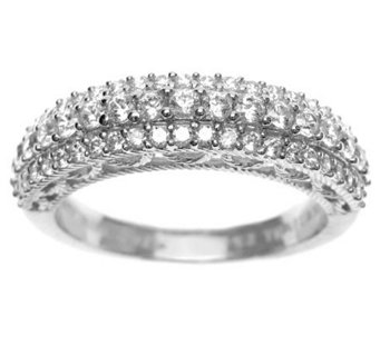 Judith Ripka Sterling Diamonique Pave Ring - J311432