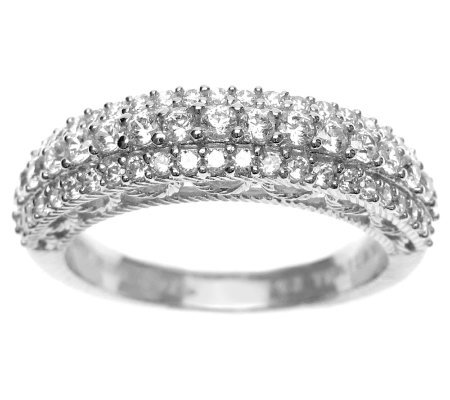 Judith Ripka Sterling Diamonique Pave Ring