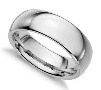 Sterling Silver 7MM Silk Fit Unisex Wedding B and Ring - J312032