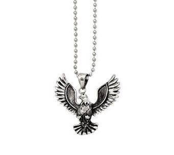 "Forza Men's Stainless Steel Eagle Pendant w/ 22"" Chain - J313132"