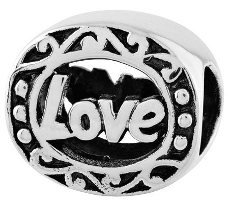 Prerogatives Sterling Scroll Love Bead