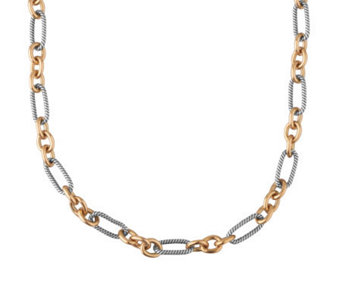 "Carolyn Pollack Opulence Mixed Metal 18"" ChainNecklace - J313732"
