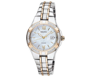 Seiko Women's Two-Tone Diamond Accent Watch - J315432