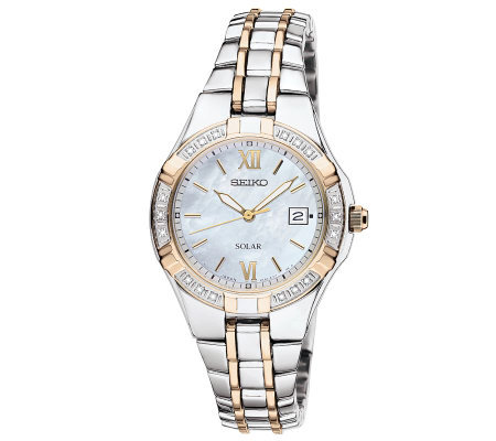 Seiko Women's Two-Tone Diamond Accent Watch