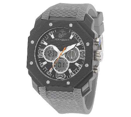 Wrist Armor Men's U.S. Marine Corps C28 Stealth& Gray Watch