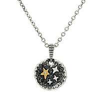 Jennifer Nettles Believe Sterling/Brass Diamond Accent Pendant w/Chain - J323932