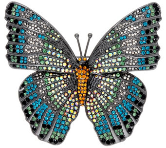 Joan Rivers Magnificent Pave' Butterfly Brooch - J327732