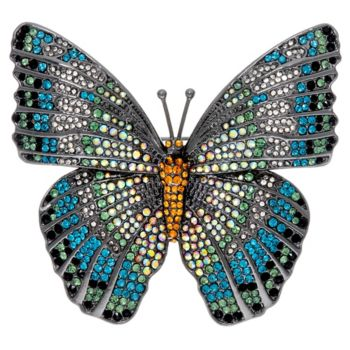 Joan Rivers Magnificent Pave' Butterfly Brooch