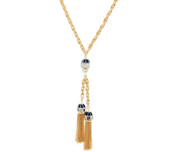"C. Wonder 28-1/4"" Rope ""Y"" Necklace with Double Tassel Station - J328832"