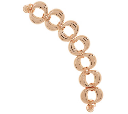 """As Is"" Bronzo Italia 7-1/4"" Bold Domed Oval Link Bracelet"