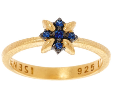 Genesi 18K Clad Sapphire Star Stack Ring