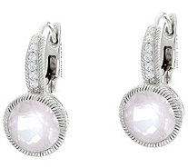 Judith Ripka Sterling Gemstone Lever Back Earrings - J330932
