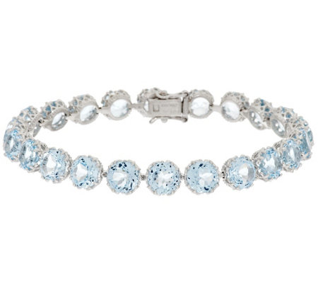 """As Is"" 100-Facet Gemstone 7-1/4"" Tennis Bracelet 22.00 ct tw"