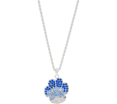 "Killarney Crystal Paw Print  Pendant and 36"" Chain"