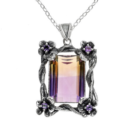 Or Paz Sterling 14.75 cttw Ametrine Pendant w/ Chain