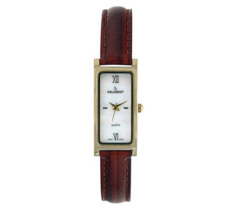 Peugeot Ladies' Brown Leather Strap Watch - J105133