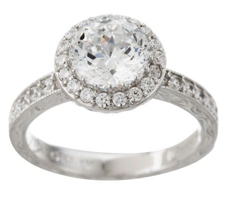 Tacori IV Diamonique Epiphany 250 ct tw Halo Bloom Cut Ring Page
