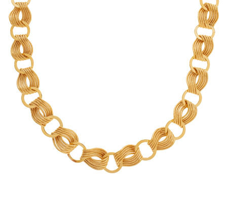 """As Is"" Veronese 18K Clad 20"" Polished & Satin Necklace"