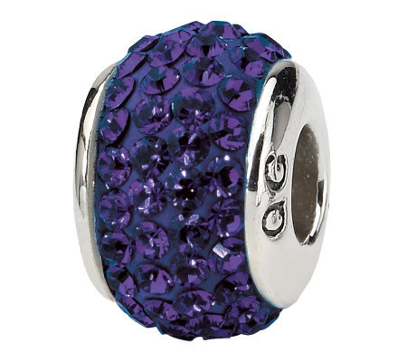 Prerogatives Sterling Purple Full Swarovski Crystal Bead