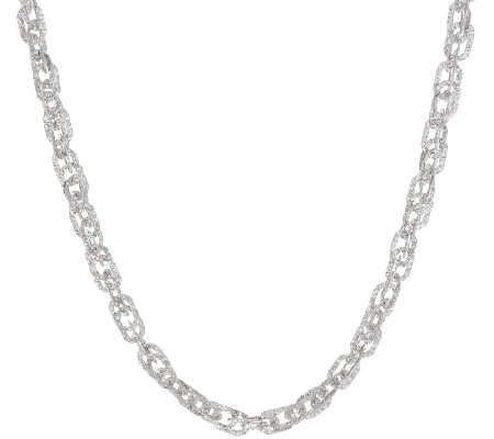"Vicenza Silver Sterling 24"" Diamond Cut Triple Rolo Necklace, 19.5g"