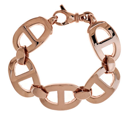 """As Is"" Bronzo Italia 7-1/4"" Polished Status Link Bracelet"