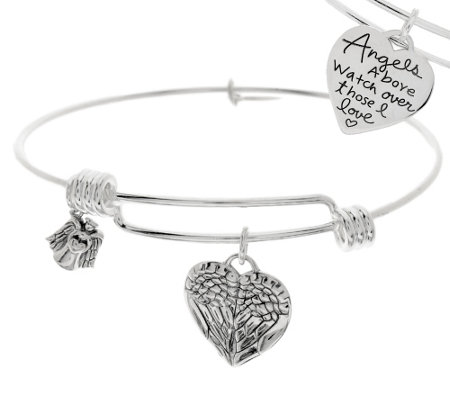 Extraordinary Life_Sterling Expandable Heart Charm Bangle Bracelet