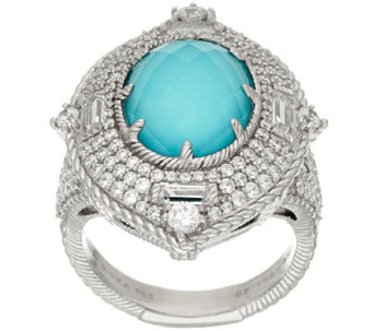Judith Ripka Sterling Doublet & Diamonique Ring - J323333