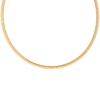 "Veronese 18K Clad 16"" Reversible Omega Necklace - J323733"