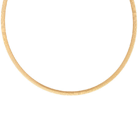 "Veronese 18K Clad 16"" Reversible Omega Necklace"
