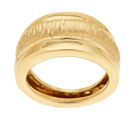 """As Is"" EternaGold Bold Diamond Cut Ring 14K Gold"
