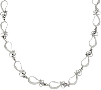 "Hagit Sterling Silver 18"" Ribbon Necklace - J327133"